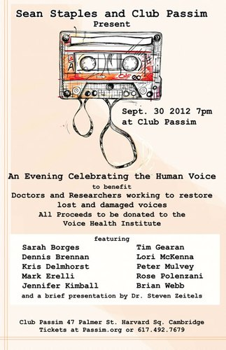 SEPT 30 Celebration of Voice wSean Staples