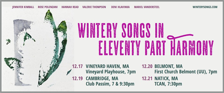 Wintery Songs shows tonight and tomorrow